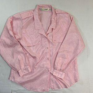 Vintage Diane Von Furstenberg Button Blouse Top 14